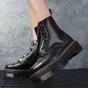 com o tamanho da caixa de 35 a 41 rendas plataforma alta acima de couro genuíno botas Martin botas de luxo designer tornozelo duráveis de alto grau tradingbear