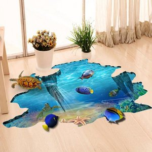 3D Galaxy Underwater World adesivi murali per il soffitto del tetto della finestra della decorazione murale personalità impermeabile Piano Sticker