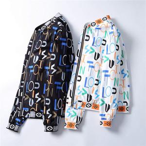 2020 Mens Designers Jacket revestimentos encapuçados dos homens da forma padrão do impressão do revestimento do revestimento manga comprida Zipper Outdoor Windbreaker inverno Streetwear