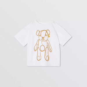 Children T-shirt 2020 new kids fashion clothing spring bear print short sleeve WSJ002 #122039