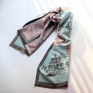 hermes scarf high alphabet Neue Designer Männer Frauen Hochwertige Herbst Winter Wollschal Weiche Lamé dick und warm Schal Luxus Lange Klassische gedruckte Schal Großhandel