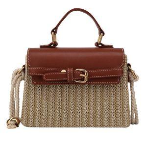 Rattan Messenger Bag Frauen Französisch Art Seil Handtaschen Corss Body Fashion Schultertasche Trendy Feiertags-Strand Böhmen-Weinlese-Handtaschen