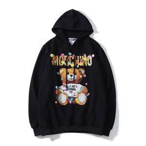 Marca para hombre con capucha Oso Diseñador Patrón suéter con capucha Calle diseñador de Hip Hop de camuflaje con capucha suéter de otoño Escudo Pareja tamaño S-2XL