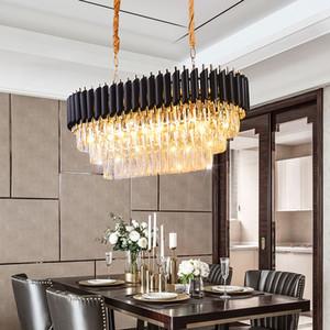 Neue Ankunft Kronleuchter Lichtleuchten Gute Qualität K9 Klare Kristall Suspension Hängen Lampe für Restaurant Amerikanische Stil Pendelleuchte