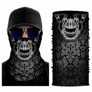 Moda Skull Scarf Bandanas impressão Máscaras novidade Ciclismo Chapelaria Seamless Halloween Party Magia lenço Máscaras Bandanas