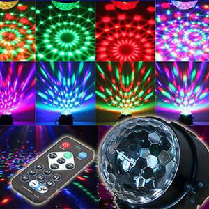 LED Lighting Rotating Magic Ball Lâmpada Luz Disco Party Bar Efeito luz do estágio + Remote Supplies Controle festive fulgor luz partido