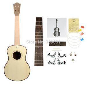 NAOMI DIY Tenor Ukulele Ukulele Spruce Top Koa Voltar Ukulele KIT 4 Cordas Conjunto de Guitarra Novo