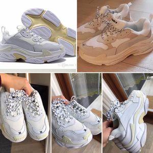 Balenciaga Triple-S Hot Paris Triple-S Designer Luxury Retro Shoes Low Top Sneakers Triple S para hombre y para mujer Zapatillas de deporte Tamaño 36-45