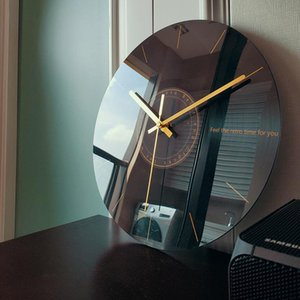 Silent Wall Clock Living Room Creative Fashion Clock Modern Minimalist Art Luxury Nordic Novelty Wall Watch Modern Design W6 Y200407