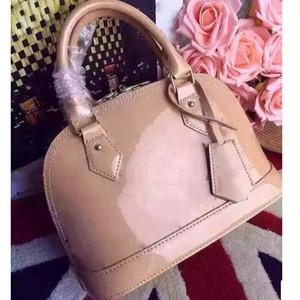доставка ALMA BB сумка женщины лакированная кожа цветок с тиснением плеча сумки с замком через плечо сумки сумки.