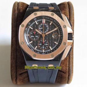 Designer relógios Caixa Carbono JF New V2 Top-Edição 26406FR.OO.A002CA.01 Forged 18K Rose Bezel Cal.3126 Chronograph Mens Automatic Assista