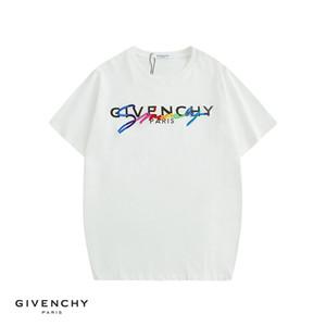 18SS Summer Street indossare Europa GIV Paris Fashion uomini di alta qualità Big Hole rotto cotone Tshirt casuale delle donne del T maglietta S-XL H9571