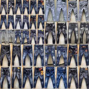 HLY SS20 Новое прибытие D2 высокое качество Brand Дизайнерские Мужчины Denim Short джинсы вышивка брюки Мода Дыры брюки Италия Размер 44-54 774datPQ6 #