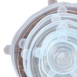 6pcs Silicone Stretch Lids Fresh Food Wraps Bowl Cup Pot Cover Seal Reusable