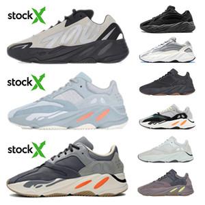 2020 высокое качество kanye west кроссовки 700 Wave Runner инерция светоотражающие Tephra Solid Grey Utility Black Vanta Мужчины Женщины спортивные кроссовки