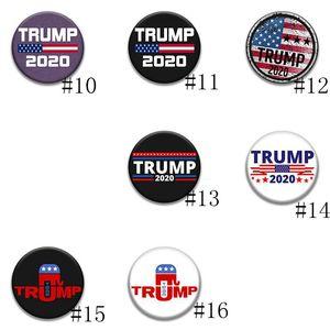 16 Sstyles 2020 Trump Banner Rozet Trump Broş Donald Amerika Büyük Yine Trump Seçim Kol bandı Rozet Takı GGA3221-2