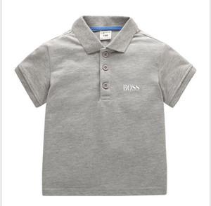 2020 estate brevi ragazze del manicotto / bambino parti superiori dei bambini T-shirt solido per la camicia 100% della camicia bambini vestiti di cotone Ragazzi T