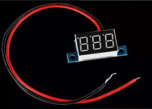 "Pannello voltmetro digitale Mini Mini DC 3-30V Display 3-Digital Blue 0,28"" LED Panel Tensione Voltmete"