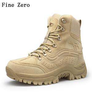 Uomini Desert Tactical Boots Mens di lavoro Safty pattini di combattimento dell'esercito Stivali Militares Tacticos Zapatos Men Shoes