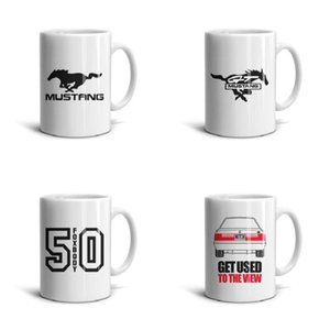 White ford-mustang-logo-emblem-symbol- Ceramic Mug Cute Simple Coffee Cup 11 OZ Inspirational Tea Mugs ford mustang logo emblem symbol
