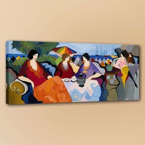Ицчак Tarkay Женщина Home Deco Art Ручная Роспись Современного Искусства Стены Картина Home Decor Картина Маслом На Холсте190822