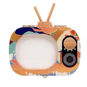 الأسنان طفل التذكار صندوق الأسنان صندوق خشبي التلفزيون على شكل الأسنان الأسنان التذكار صندوق تخزين تذكارات الإعلانات جمع هدية