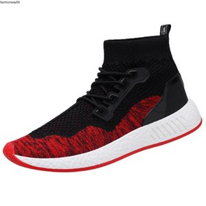 shoes Spring and male autumn new movement Sneakers shoes soft bottom flying woven casual knit socks sportsrunning