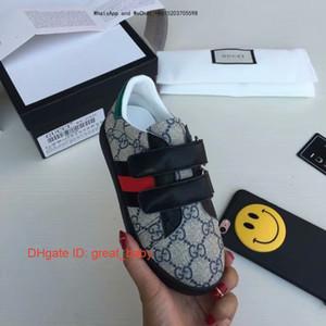 Novo padrão de designer de moda de luxo crianças menina sapatos casuais unisex crianças meninos lazer tempo desgaste impressão sapatos infantis 0901