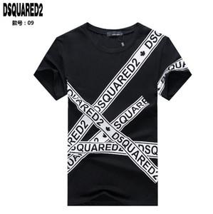 Новый DQ2 бренды значок Канада печати футболки мужские рубашки Европа мода homme дизайнеры мужчины женщины Luxurys мужчины уличная футболка топы 091