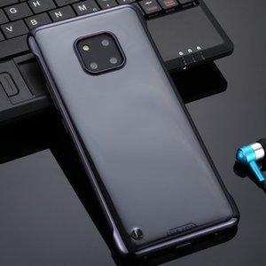 Huawei için 20 Pro SULADA Sınırsız Bırak geçirmez Vakum Kaplama PC Kasa Mate
