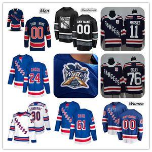 2019 New York Rangers Kaapo Kakko Artemi Panarin Jersey Hockey Mika Zibanejad Chris Kreider Jimmy Vesey Henrik Lundqvist Buchnevich Strome