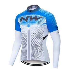 NW equipo de ciclismo Jersey manga larga de los hombres camisas de bicicleta MTB de secado rápido al aire libre compite con la ropa de la bicicleta ropa deportiva P62213