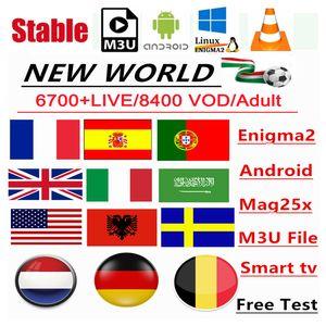 Caliente para el mercado árabe francesa Alemania Nordic Reino Unido EE.UU. Canadá 1 año de garantía PC M3U Smart TV mag254 / 322 STB inteligente caja androide TV