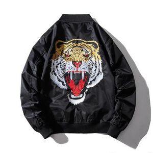 Mens зимы осени вскользь Сыпучие черный пиджак пальто животных шаблон Стенд воротник мужской моды Streetwear новые пальто