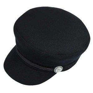 Kadınlar Erkekler İngiltere Stil Retro Düz Cap Boina DAİRE Sonbahar Kış Bere Kadın Newsboy Caps Sekizgen Cap
