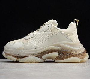 Paris 2019 cristallo Triple Bottom-S pattini di svago papà dei pattini della piattaforma Triple S Sneakers per Uomo Donna Vintage Kanye vecchio nonno Trainer