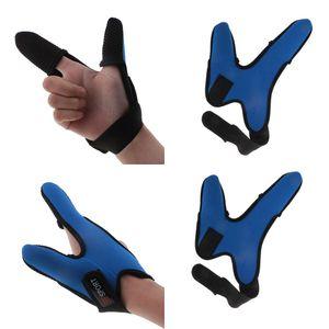 2 шт Профессиональные Thumb + указательный палец перчатка для рыбалки, Десница два пальца перчатки, Non-Slip Finger Protector Guard