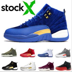 Nike Air Max Retro Jordan Shoes Neue Qualitäts-12 12s OVO Weiß Gym Dunkelgrau Basketball-Schuhe Männer Frauen Blue Suede Flu Spiel CNY Trainings Turnschuhe Größe 36-47