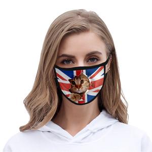 Máscara o Dia da Independência Bdegarden Usa Para Máscaras Lady Cubrebocas Cor Rosa lavável Poliéster Usa Lady Cubrebocas Cor