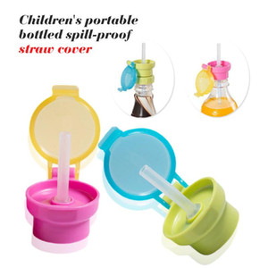 Water Bottle Portable Sport Camping Cycling Juice Drinkware Plastic Children Kids Water Bottle Drinking Straw Cover