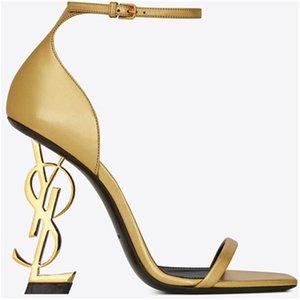 2020 Desinger gold Patent Leather eden Heel Fashion Bridal Wedding Shoes Modest Eden High Heel Women Evening Party Shoes 10cm