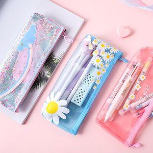 Sevimli Kawaii öğrenci kız saklama torbası Hediye Okulu küçük papatya ESTUCHES Kalem Kutusu Kutu Okul Kırtasiye pencilcase Bags Malzemeleri