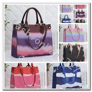 Zaino Louis Vuitton Keepall 50 Keepall lv designer borse di lusso borse zaini rosa Estate Tie Dye lusso Tote per le donne Borsa Borse Designer pastello Tote Collection 191.017