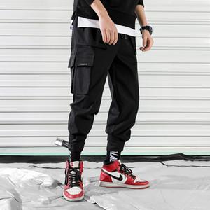 Hip Hop Брюки Мужчин штаны Streetwear Мужчина Кармана Гарем Joggers способ брюк вскользь Mens Pant Street Style Хлопка