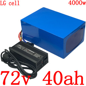 충전기 72V 40AH 72 72V3000W 리튬 배터리 4000W 전기 스쿠터 배터리 V 40AH 전기 자전거 배터리 사용 LG 휴대폰