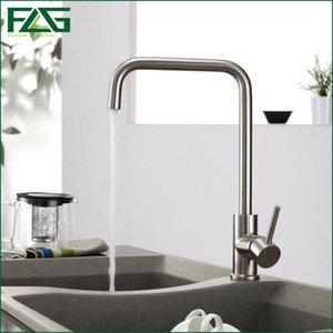 FLG Venda direta da fábrica torneira da cozinha níquel escovado Aço Inoxidável 304, Sink Mixer 360 graus de rotação Água da torneira Kitchen CS010