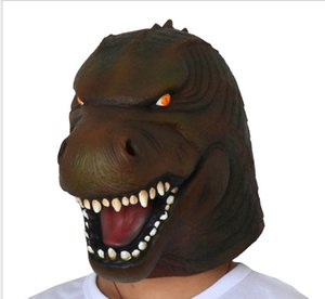 2019 New Jurassic Dinosaur Mask Headgear Halloween Party Animal Mask Headgear Spoof Scary Mask Free Shipping