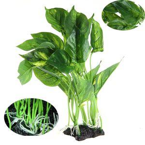 1pc 25cm / 28cm Yüksek Yeşil akvaryum yapay bitkiler akvaryum Peyzaj Su Bitkileri plastik çim bitkisi çiçek dekorasyon süsleme