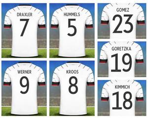 주문을 받아서 독일 2020 홈 화이트 7 드락 슬러 9 베르너 (13) 뮐러 축구 유니폼 셔츠 8 크루스 5 Hummels 23 고메즈 2 술레 19 Goretzka 마모