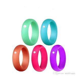 Finger silicone peau Hoop silicone en caoutchouc Bague pour Mech Protection Vape Mod Vape RDA Vaporizer Réservoirs Décore diamant